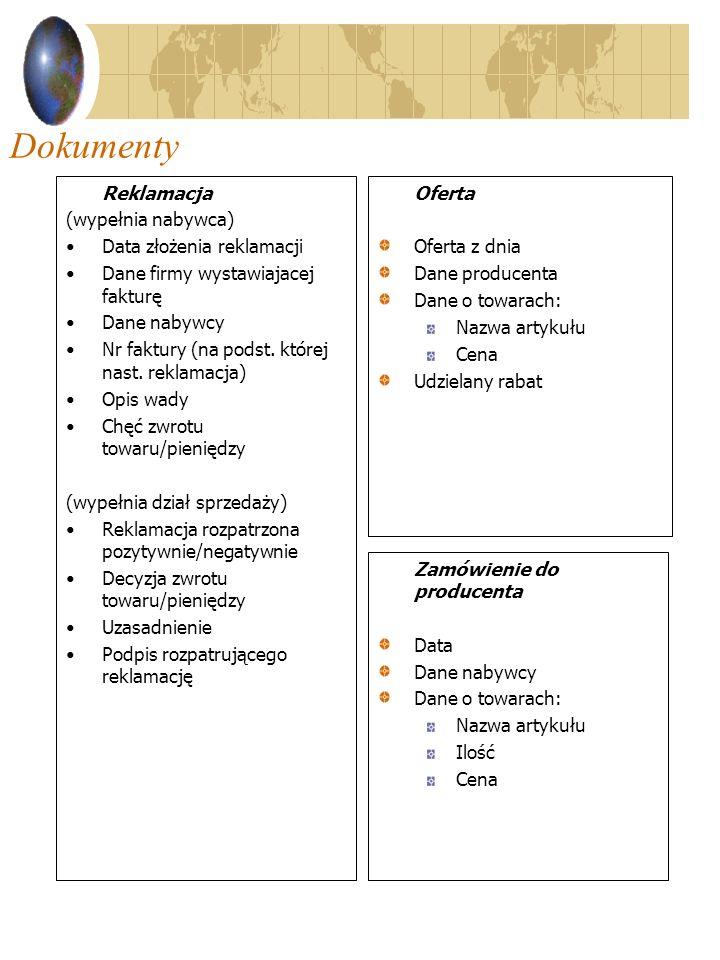 Reklamacja (wypełnia nabywca) Data złożenia reklamacji Dane firmy wystawiajacej fakturę Dane nabywcy Nr faktury (na podst. której nast. reklamacja) Op