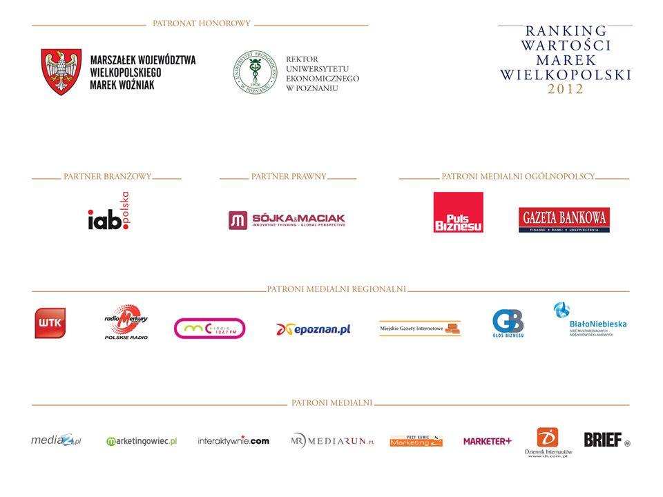 ZASADY TWORZENIA RANKINGU Ranking Wartości Marek Wielkopolskich 2012 został zorganizowany w podziale na kategorie: 1.