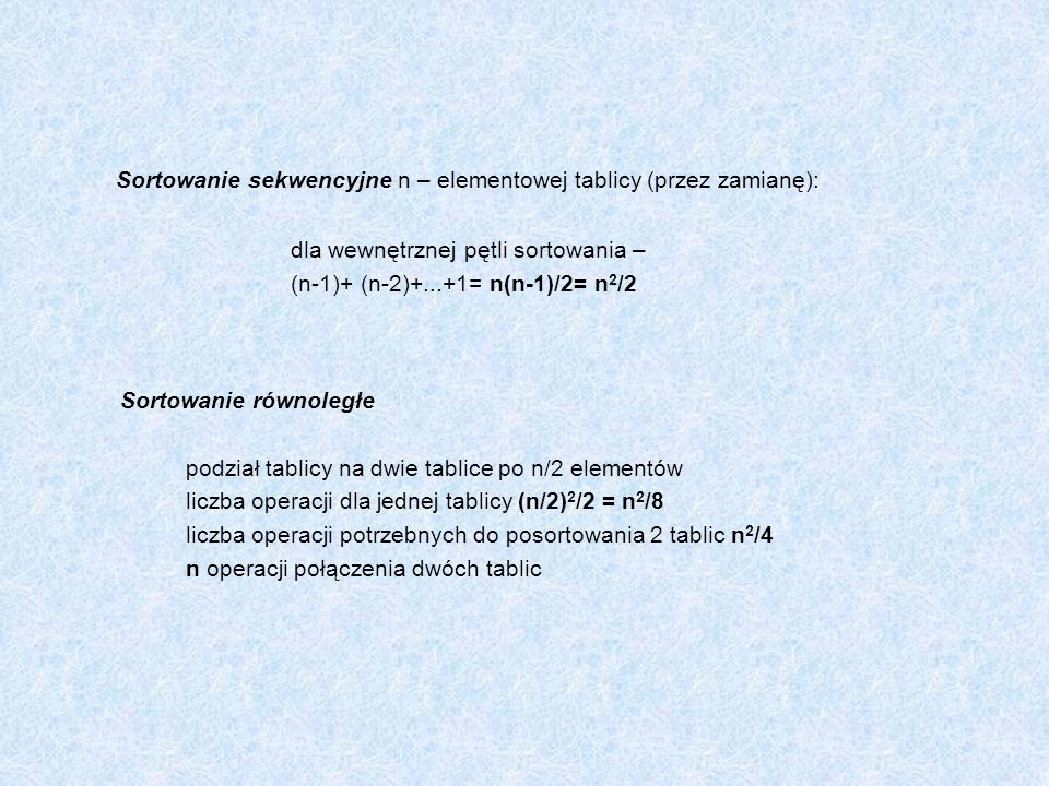 Program 3 int k1=1, k2 =1; proces_P1 ( ) { while (1) { k1=0; while (k2 =0); // aktywne oczekiwanie sekcja_krytyczna_P1; k1=1; // protokół końcowy sekcja_lokalna_P1; } ////////////////////////////// proces_P2 ( ) { while (1) { k2=0; while (k1 =0); // aktywne oczekiwanie sekcja_krytyczna_P2; k2=1; // protokół końcowy sekcja_lokalna_P2; }