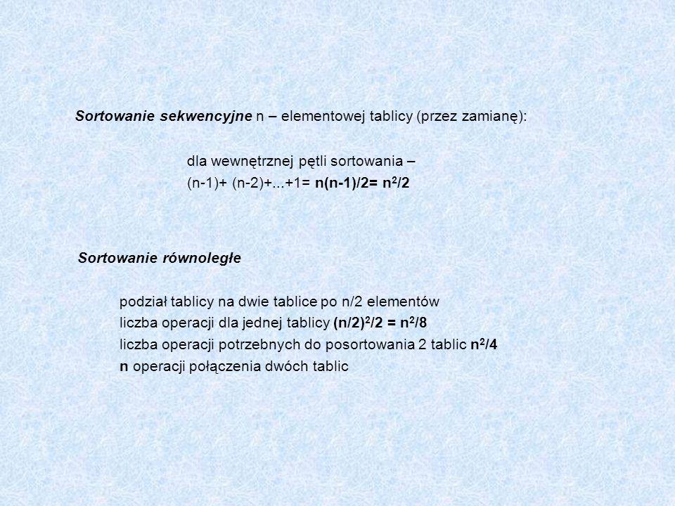 Przykład: main () { int pid_potomka; if ((pid_potomka=fork())==-1) perror(Błąd fork ) ; else if(pid_potomka==0) / /proces potomny printf(Potomek: pid potomka=%d, pid przodka=%d\n ,getpid(), getppid()); else / /proces macierzysty printf(Przodek:pid potomka=%d, pid przodka=%d\n ,pid potomka, getpid());