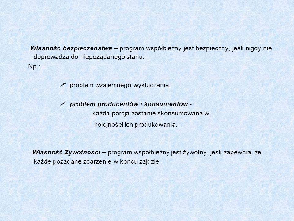 Implementacja warunkowych rejonów krytycznych Warunkowe rejony krytyczne są naturalnym mechanizmem komunikacji między procesami, dostosowanym do potrzeb języków wysokiego poziomu.