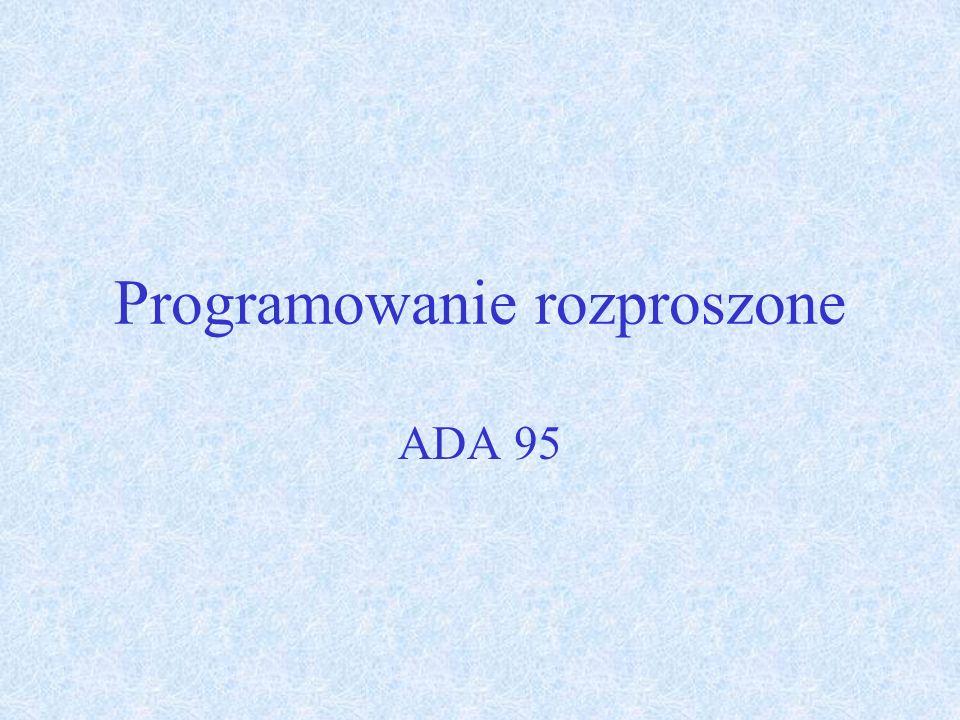 Programowanie rozproszone ADA 95