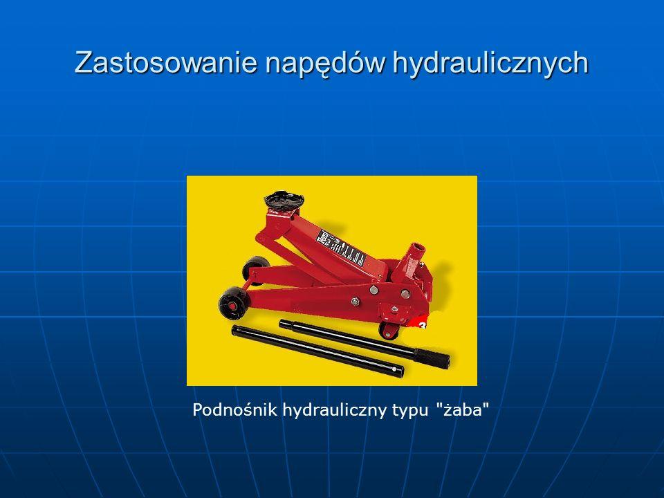 Zastosowanie napędów hydraulicznych Podnośnik hydrauliczny typu