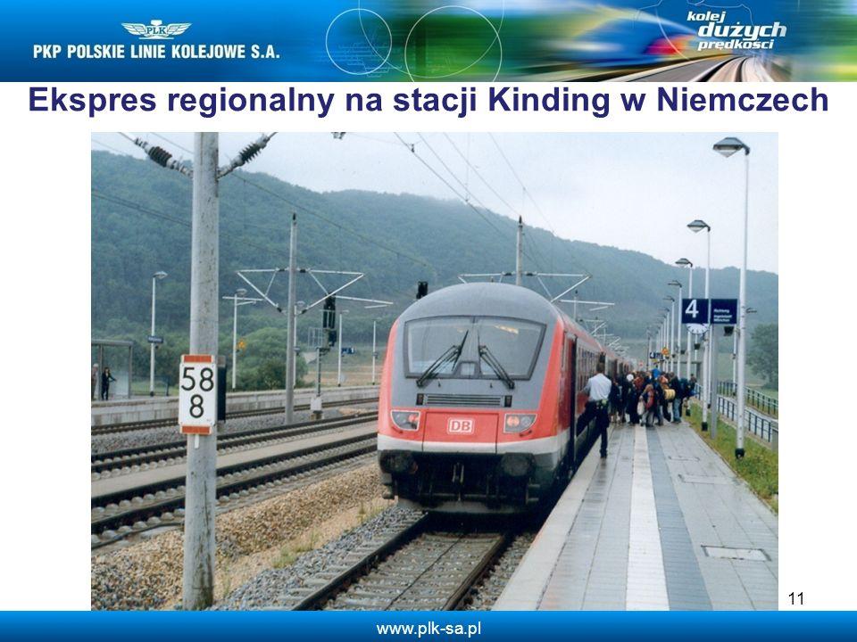 www.plk-sa.pl Ekspres regionalny na stacji Kinding w Niemczech 11