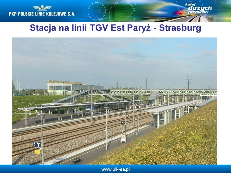 www.plk-sa.pl Stacja na linii TGV Est Paryż - Strasburg 6