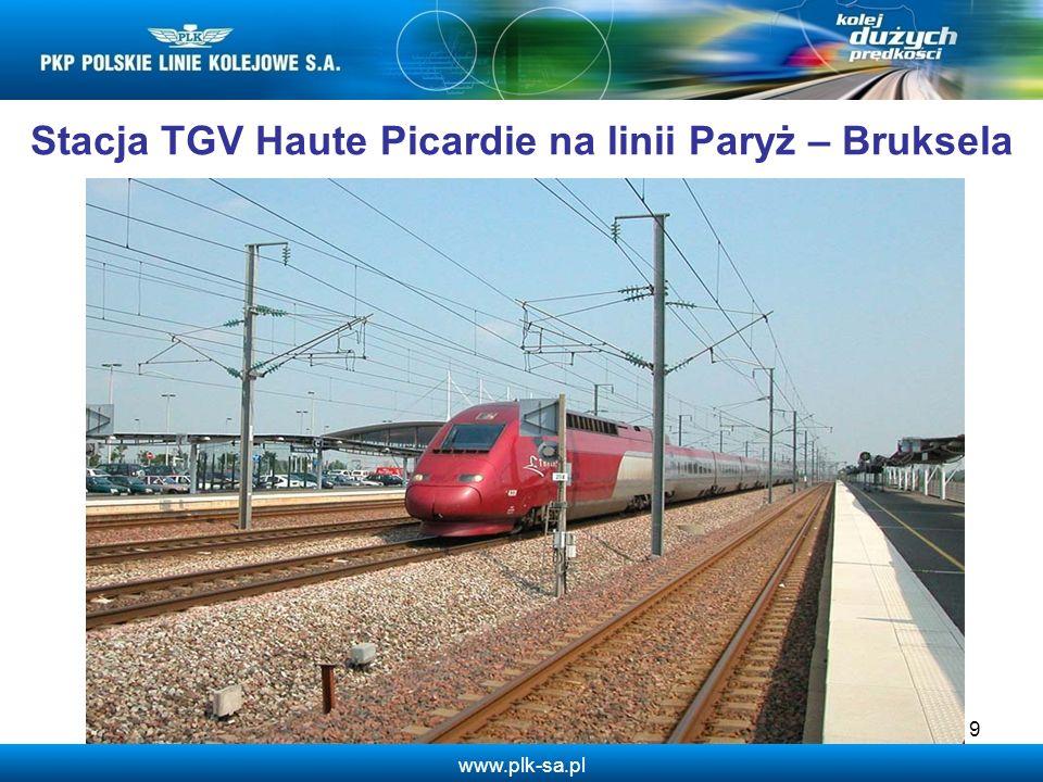 www.plk-sa.pl Stacja TGV Haute Picardie na linii Paryż – Bruksela 9