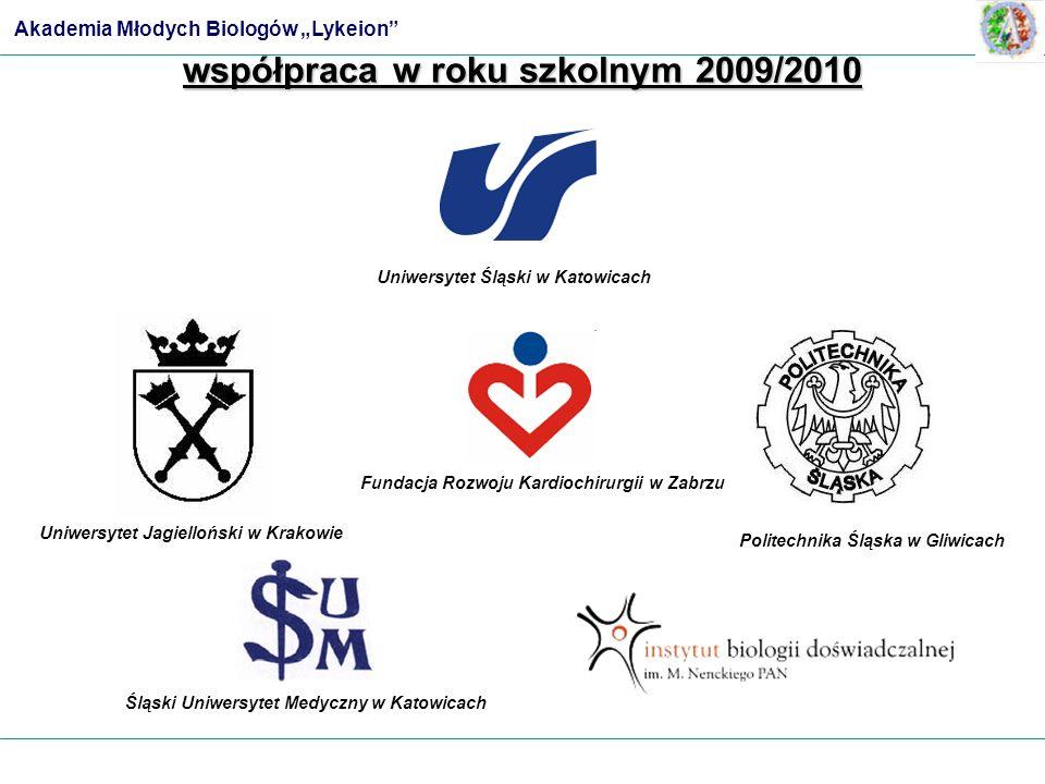 Uniwersytet Jagielloński w Krakowie Śląski Uniwersytet Medyczny w Katowicach Politechnika Śląska w Gliwicach Uniwersytet Śląski w Katowicach współprac
