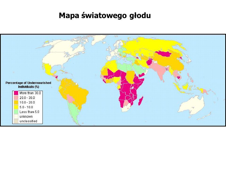 Mapa światowego głodu