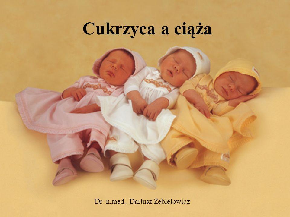 Cukrzyca a ciąża Dr n.med.. Dariusz Żebiełowicz