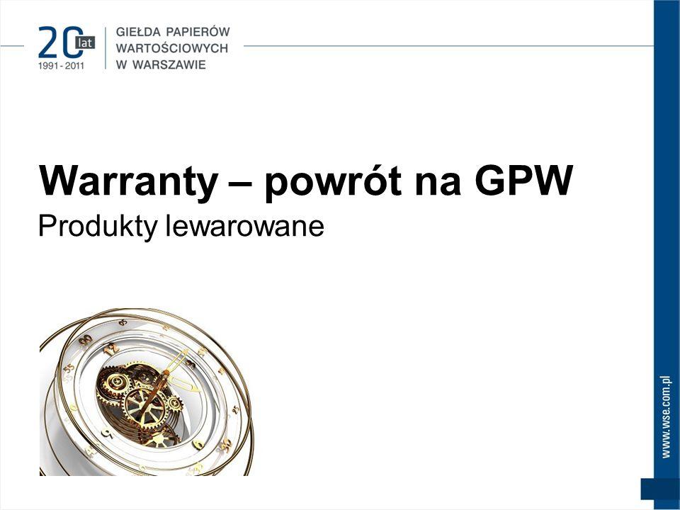 Warranty – powrót na GPW Produkty lewarowane