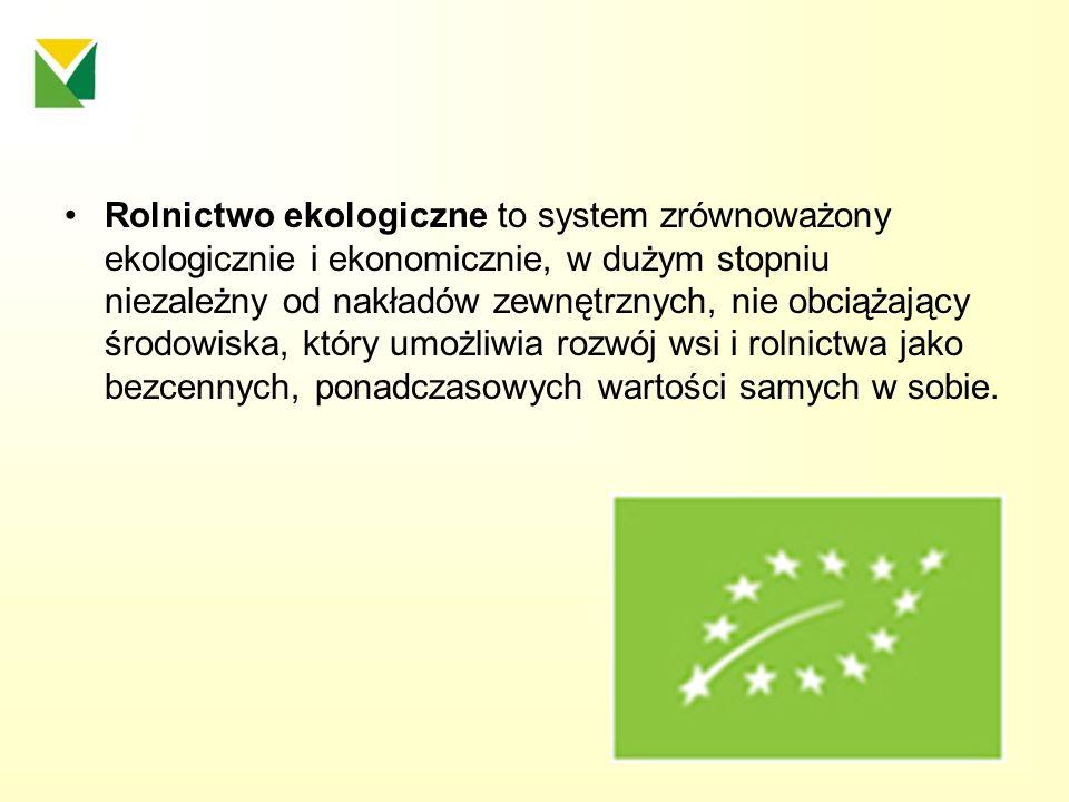 ZASADY ROLNICTWA EKOLOGICZNEGO Ochrona środowiska produkcji rolniczej - gleby, - wody, - powietrza, - krajobrazu, (dążenie do biologicznej samoregulacji w obrębie gospodarstwa rozumianego jako system ekologiczny)