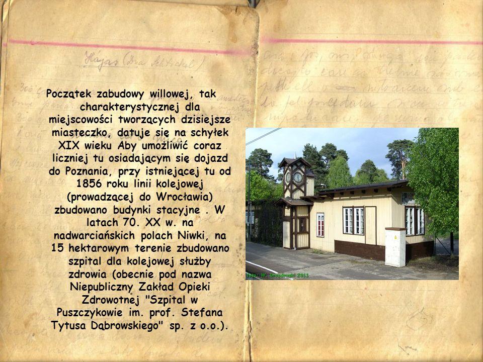 Początek zabudowy willowej, tak charakterystycznej dla miejscowości tworzących dzisiejsze miasteczko, datuje się na schyłek XIX wieku Aby umożliwić co