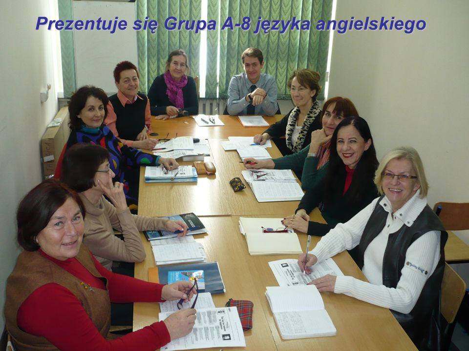 Prezentuje się Grupa A-8 języka angielskiego
