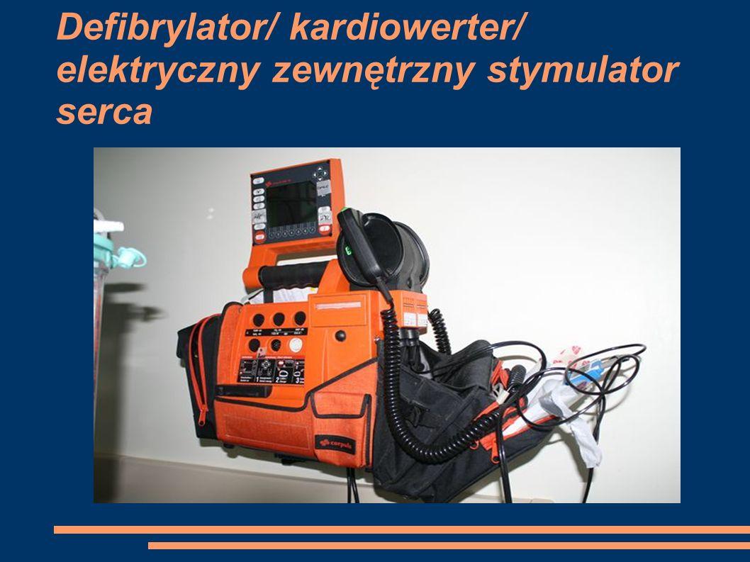 Defibrylator/ kardiowerter/ elektryczny zewnętrzny stymulator serca