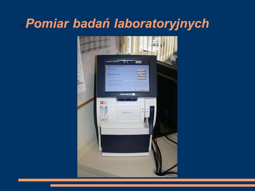 Pomiar badań laboratoryjnych