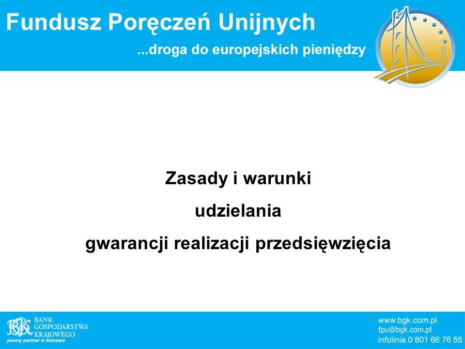 Zasady i warunki udzielania gwarancji realizacji przedsięwzięcia