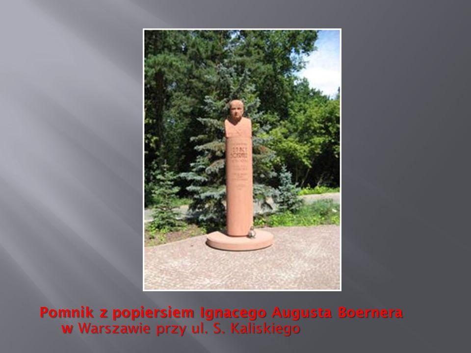 Pomnik z popiersiem Ignacego Augusta Boernera w Warszawie przy ul. S. Kaliskiego