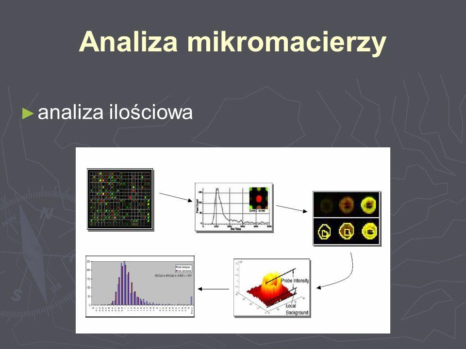Analiza mikromacierzy analiza ilościowa