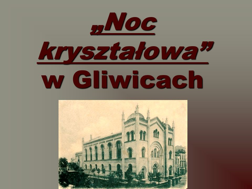 Noc kryształowa w Gliwicach