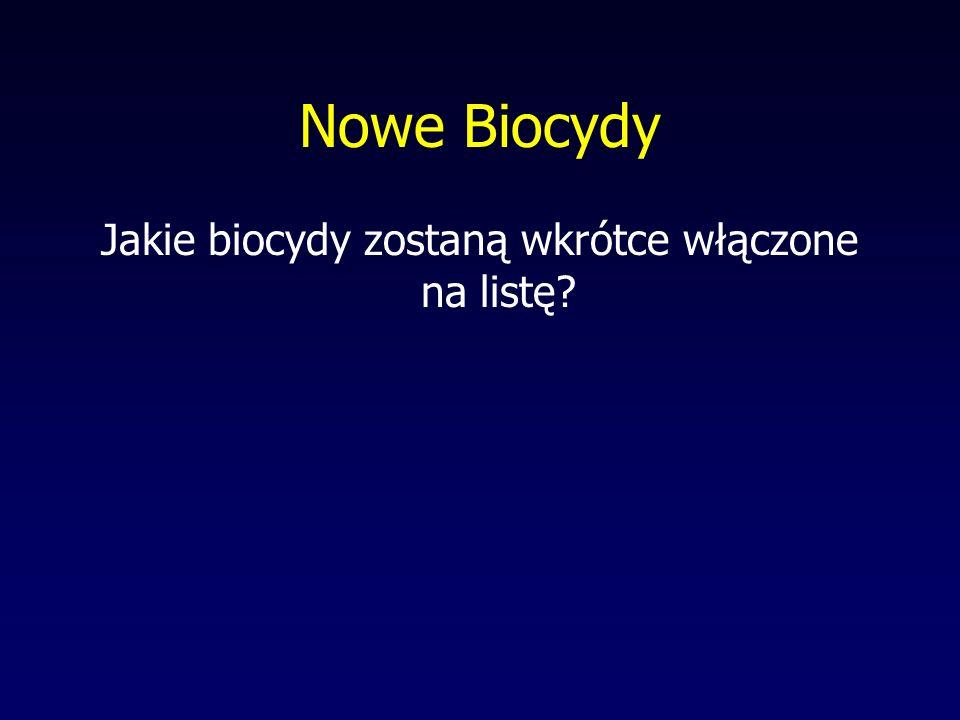 Konsekwencje dla Niemiec wynikające z wytycznych UE ws. Biocydów Kraje Członkowskie są zobowiązane dopuścić stosowanie biocydów, których użycie jest d