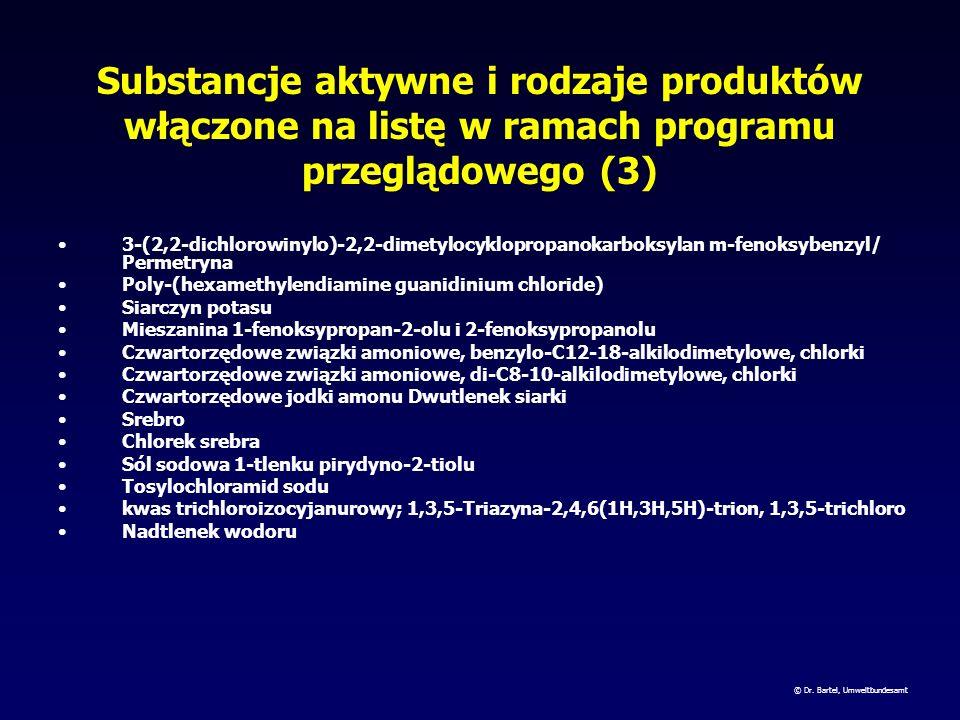 Substancje aktywne i rodzaje produktów włączone na listę w ramach programu przeglądowego (2) Jod (E,E)-heksa-2,4-dienonian potasu/Sorbinian potasu Pir