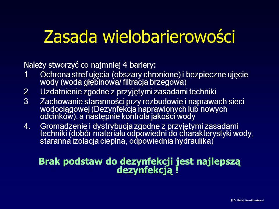 3 filary uzdatniania Zasada wielobarierowości Zasada minimalizacji Reguła 10-ciu % © Dr. Bartel, Umweltbundesamt