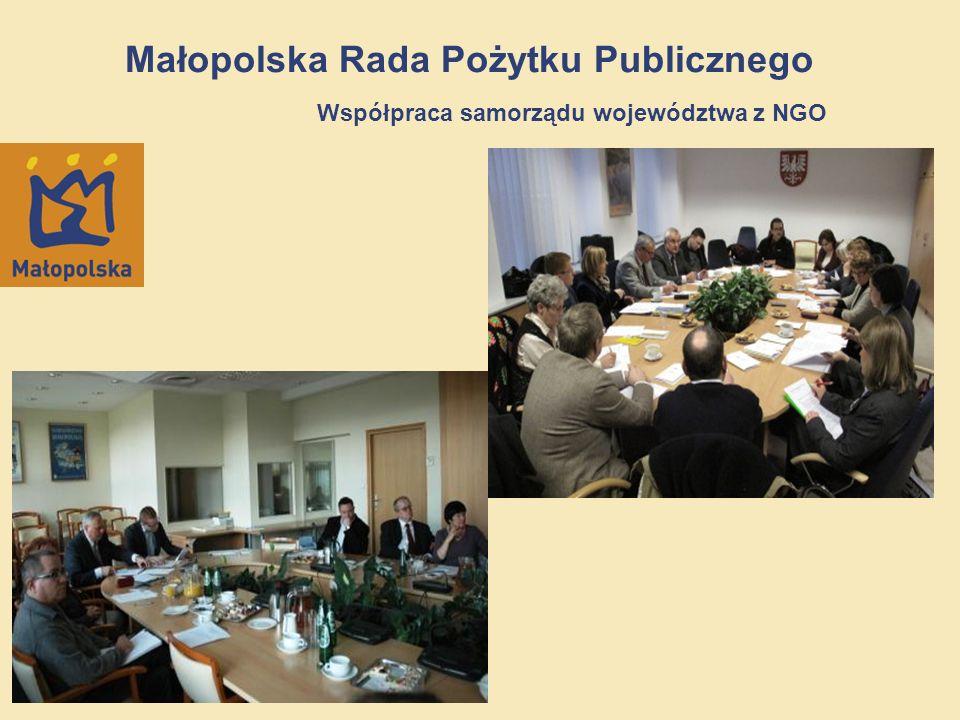 Małopolska Rada Pożytku Publicznego Współpraca samorządu województwa z NGO