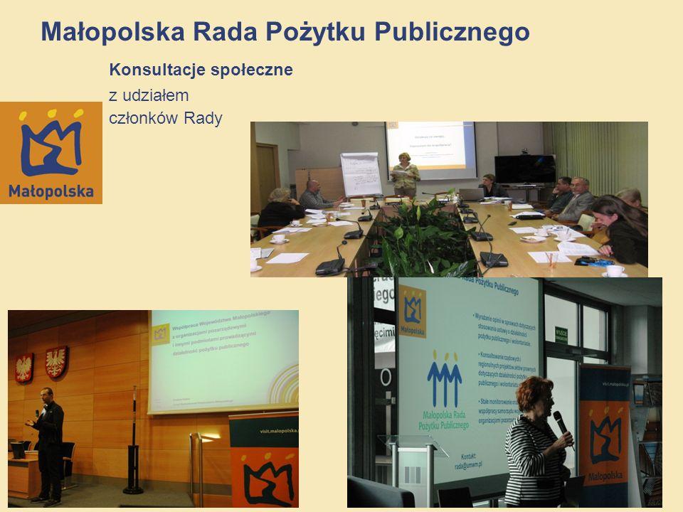 17/12 Małopolska Rada Pożytku Publicznego Konsultacje społeczne z udziałem członków Rady