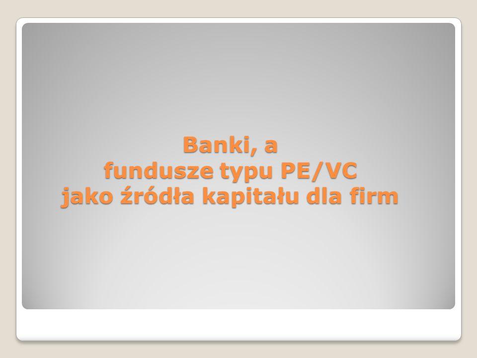 Banki, a fundusze typu PE/VC jako źródła kapitału dla firm