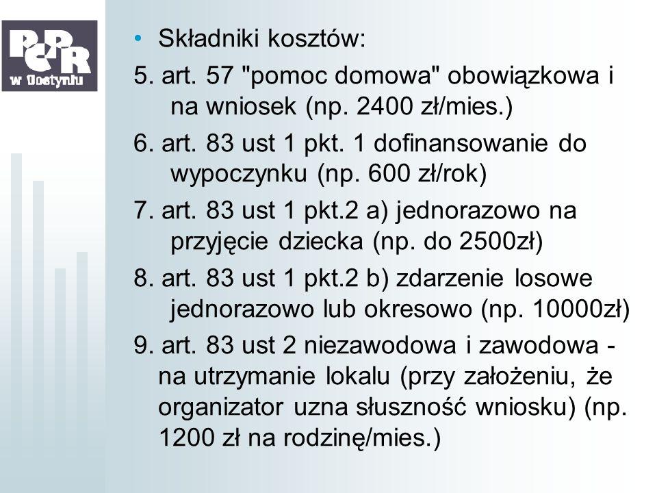 Składniki kosztów: 5. art. 57