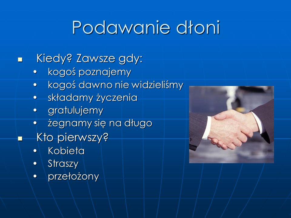 Kilka wskazówek Przedstawiając kogoś wymieniamy jego imię i nazwisko, tytuł jeśli posiada, stanowisko w firmie, a także kilka słów o danej osobie: Prz