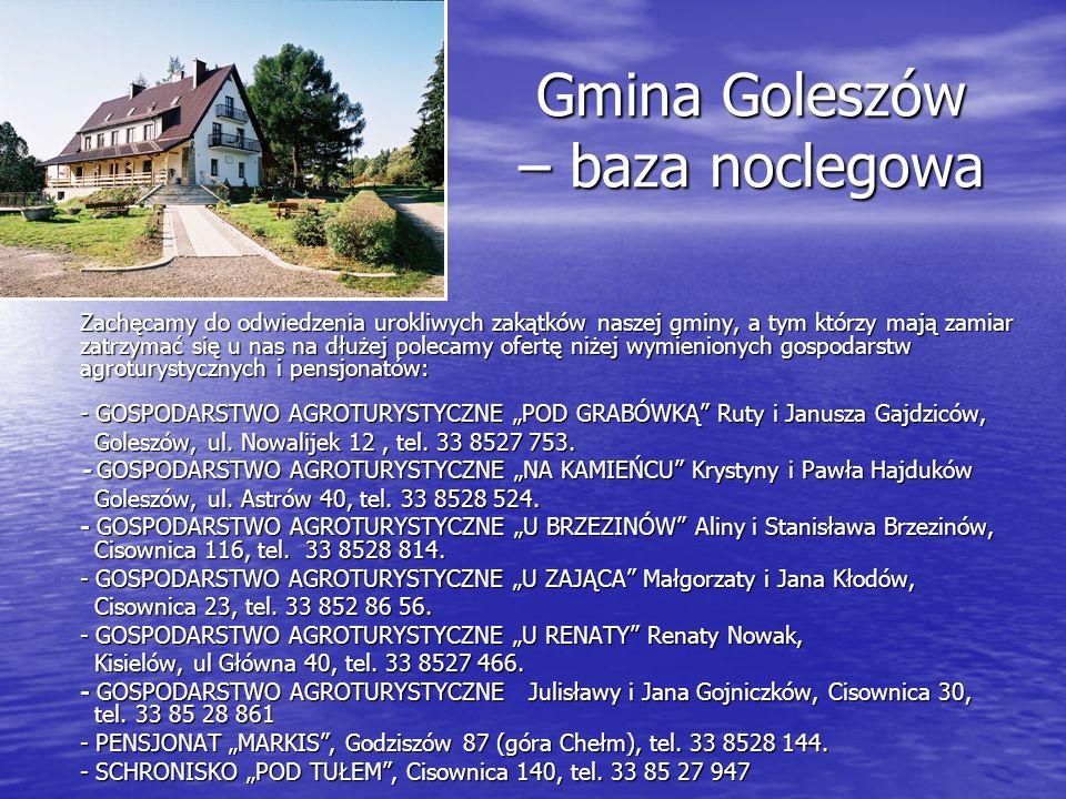 Gmina Goleszów – baza noclegowa Zachęcamy do odwiedzenia urokliwych zakątków naszej gminy, a tym którzy mają zamiar zatrzymać się u nas na dłużej pole