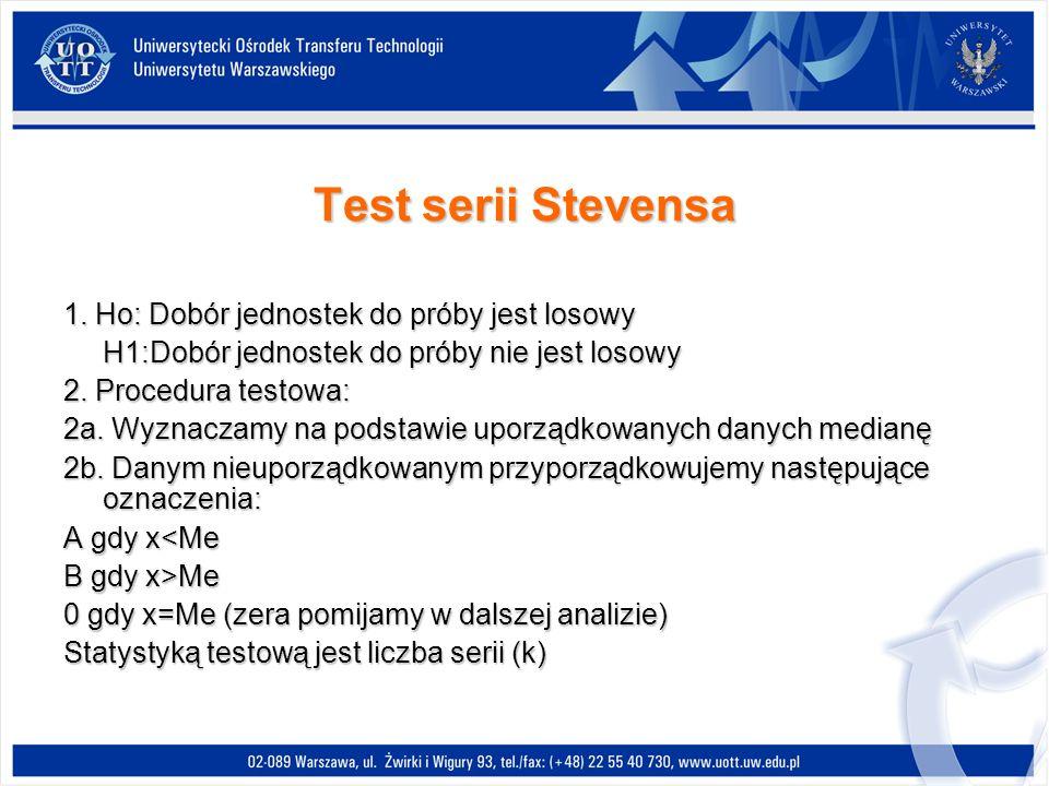 Test serii Stevensa 1.