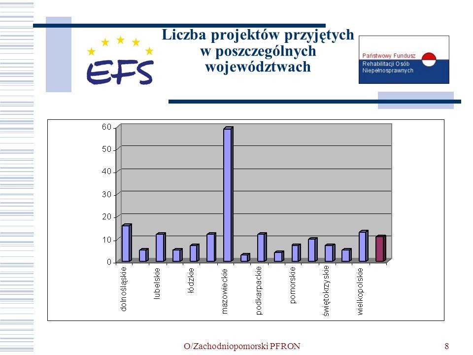 O/Zachodniopomorski PFRON9 Realizacja projektów w województwie zachodniopomorskim ProjektodawcaTytuł projektu Ekspert Sitr Sp.