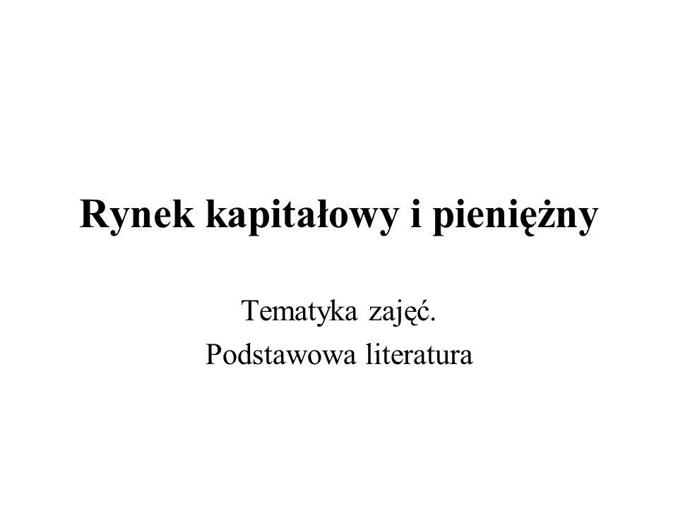 dr Igor Styn, Instytut Ekonomiczny, PWSZ Nowy Sącz 3 Tematyka zajęć 1.Pojęcie rynku.