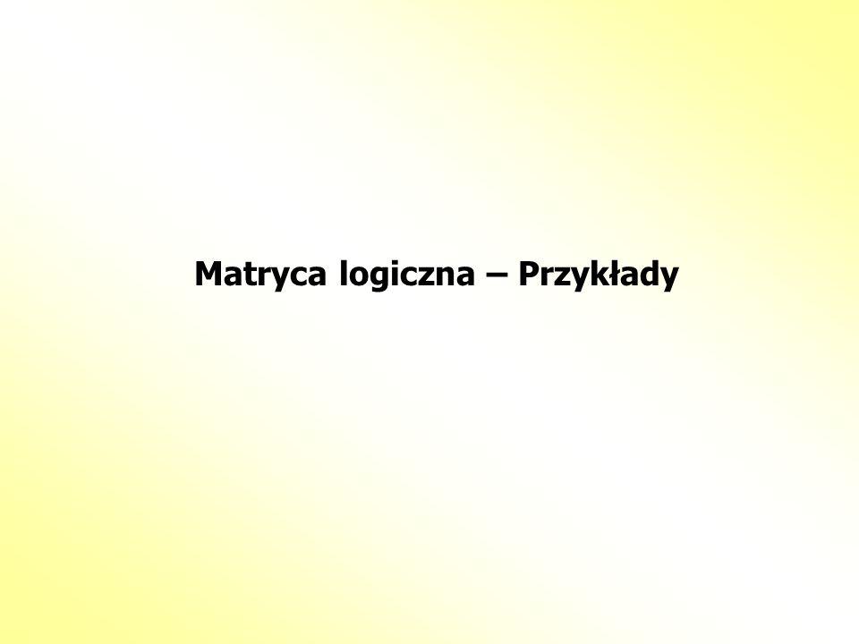 Matryca logiczna – Przykłady