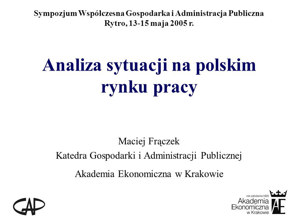 Aktywność ekonomiczna ludności w Polsce (w mln osób) Źródło: Dane BAEL