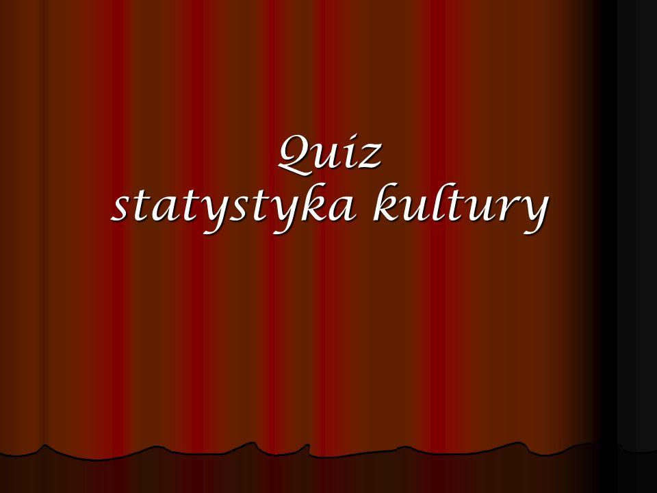 Quiz statystyka kultury