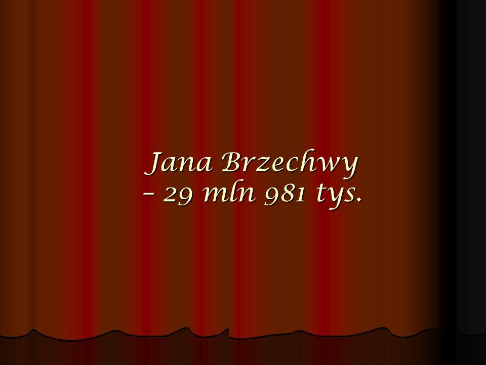 Jana Brzechwy – 29 mln 981 tys.