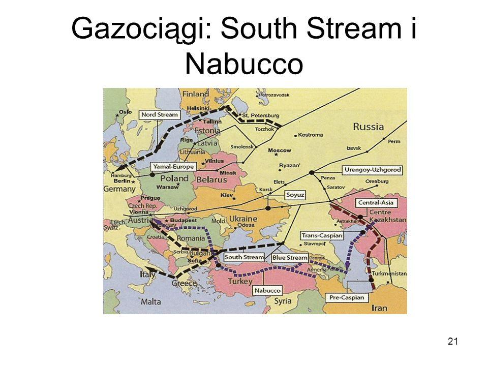 21 Gazociągi: South Stream i Nabucco