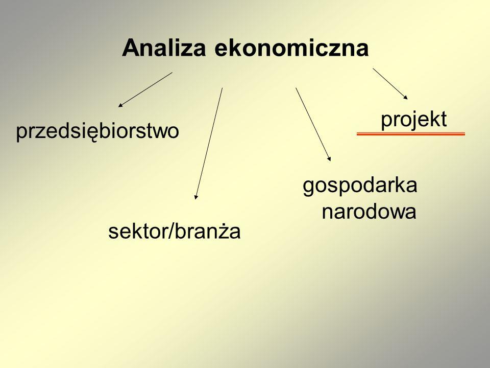 Analiza ekonomiczna projektu Analiza ekonomiczna – jest to analiza posługująca się wartościami ekonomicznymi, które odzwierciedlają wartości, jakie społeczeństwo byłoby gotowe zapłacić za określone dobro lub usługę.