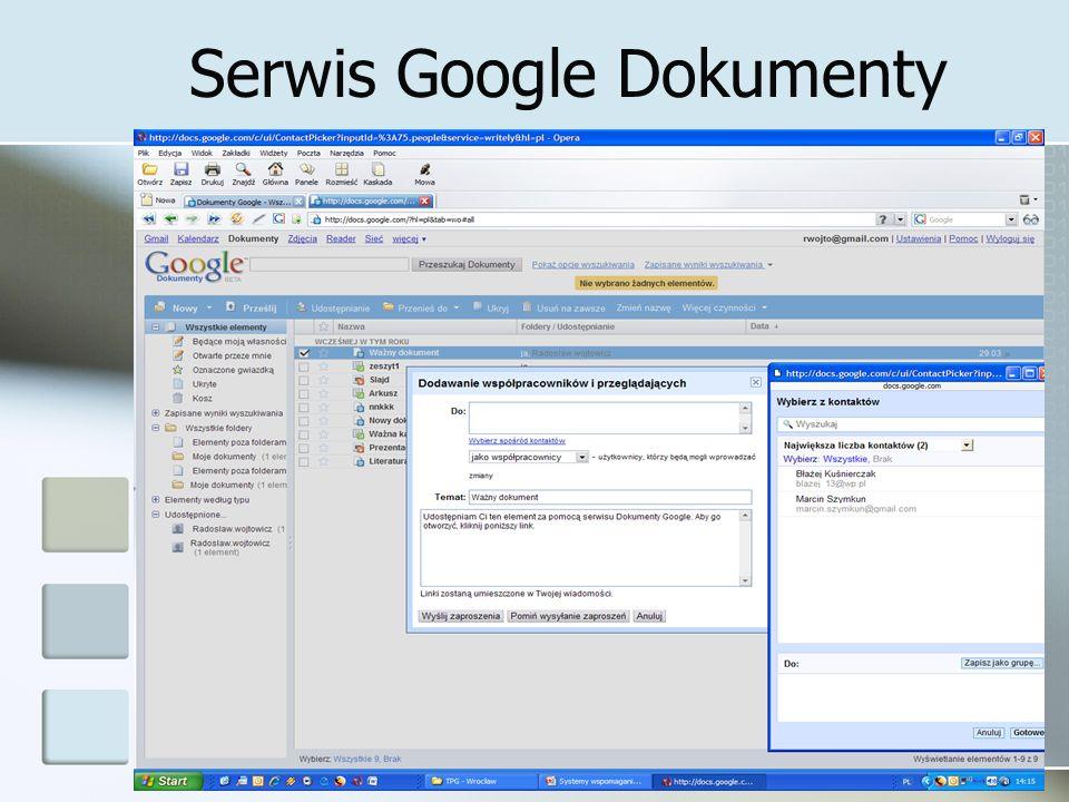 Serwis Google Dokumenty 22