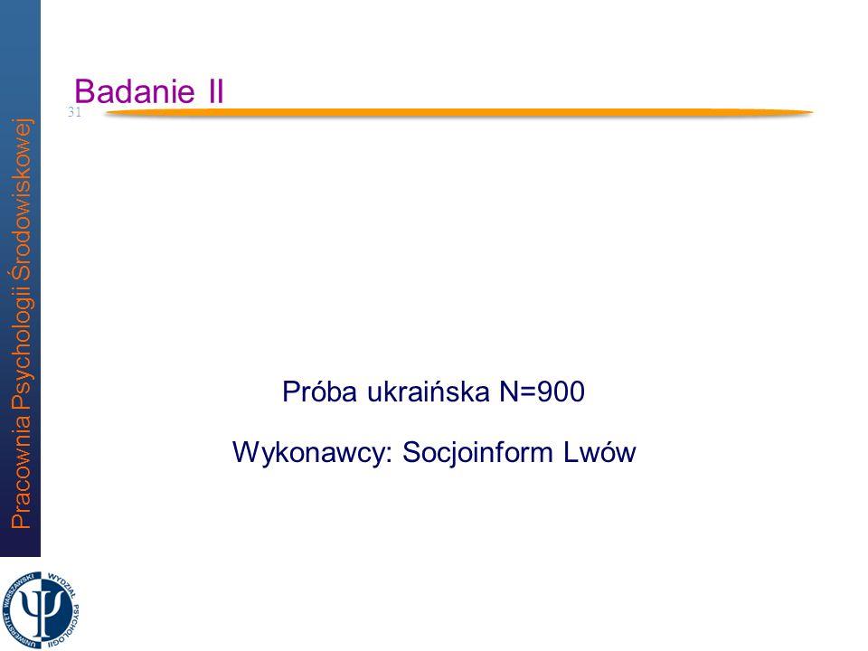 Pracownia Psychologii Środowiskowej 30 Za: Lewicka (2004) 5,7 15,1 50,3 82,6 97,4 100,0 M