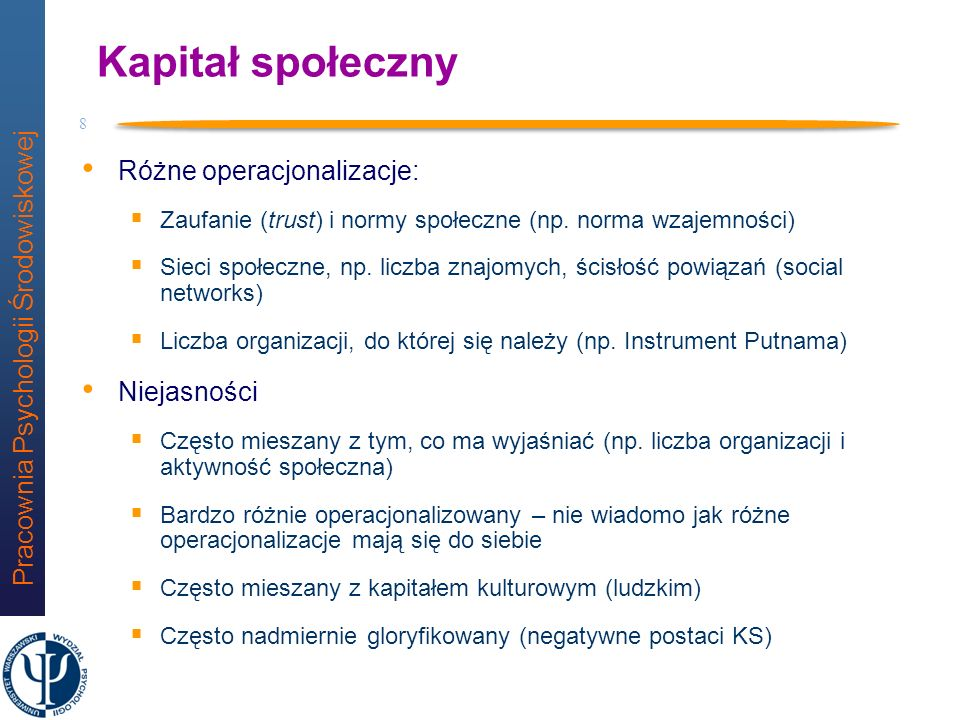 Pracownia Psychologii Środowiskowej 28 cultural capital,21 neighborhood ties,24 civic activity,40 place attachment residence time e3 e2 e1,27 interest in roots e5 -,20 -,48,27,26,51,46 -,23,33,22,32,30 Chi-2=6,566, df=4, p=0,161, RMSEA=0,075 Model dla gmin N=118