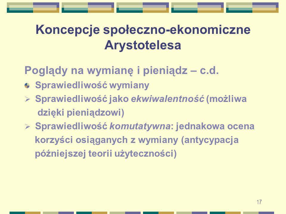 18 Koncepcje społeczno-ekonomiczne św.Tomasza z Akwinu Św.