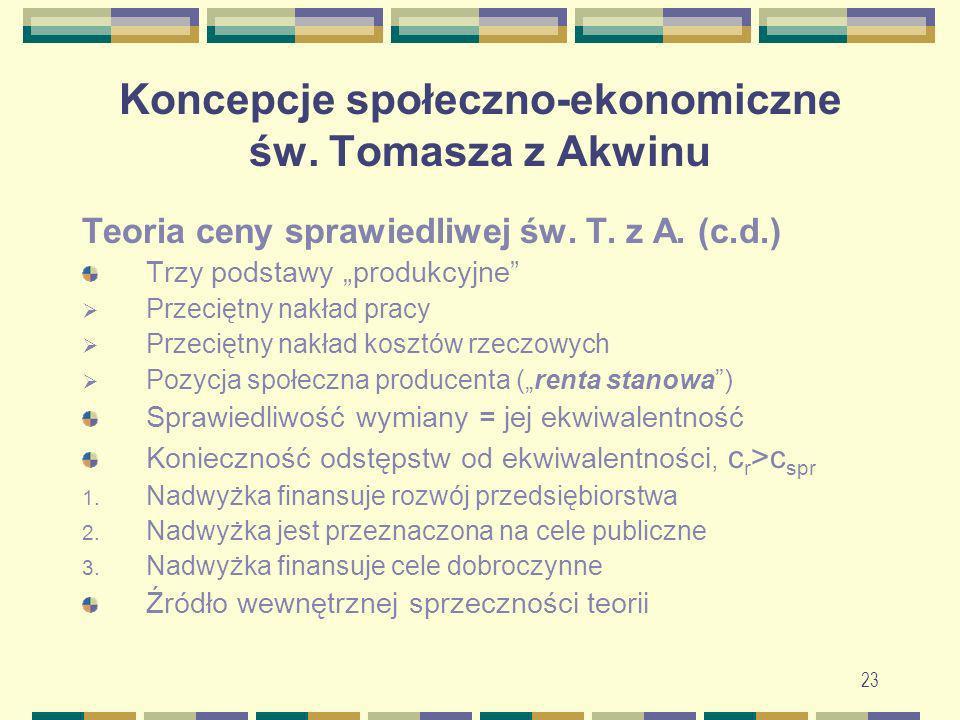 24 Koncepcje społeczno-ekonomiczne św.