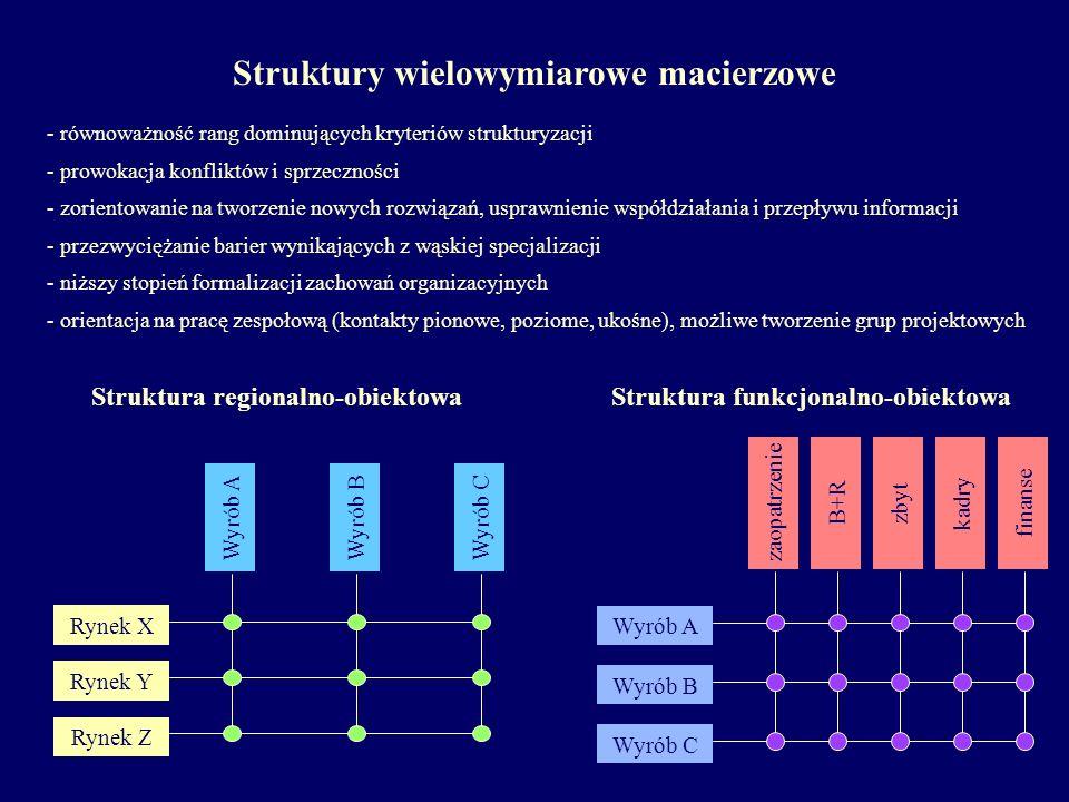 - równoważność rang dominujących kryteriów strukturyzacji - prowokacja konfliktów i sprzeczności - zorientowanie na tworzenie nowych rozwiązań, uspraw