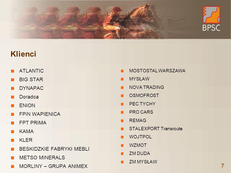 8 Nagrody: rynek docenia firmę i produkty Najwięcej wdrożeń systemów klasy ERP/MRP II na platformie Oracle w Europie Centralnej - Oracle 2007 Gazela Polskiego Biznesu 2005, 2006, 2007 – nagroda przyznawana przez dziennik Puls Biznesu Najlepszy polski dostawca w zakresie usług związanych z wdrożeniem i usługą powdrożeniową wg raportu DiS za 2006 rok Najlepszy produkt roku podczas konferencji Systemy dla Przedsiębiorstw GigaCon 2006 Lider Informatyki dla Energetyki Roku 2006 Lider Polskiego Biznesu 2005, 2006, 2007 – Business Center Club Technology Fast 50 2003, 2004, 2005 – najszybciej rozwijające się firmy IT w Europie Środkowej, Technology Fast 500 2005 – najdynamiczniejsze spółki IT z Europy, Bliskiego Wschodu i Afryki Lider Rynku EURO LEADER 2005 – najlepszy polski system klasy ERP