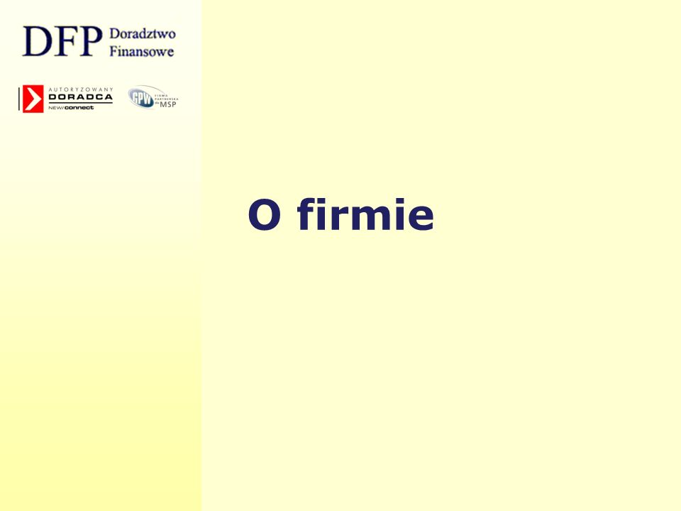Wskaźniki DFP na tle rynku (1) Źródło: opracowanie własne na podstawie kursów zamknięcia z dnia 15.02.2008 na GPW (dla DFP Doradztwo Finansowe SA przyjęto cenę 8,50 zł) 2006 r.