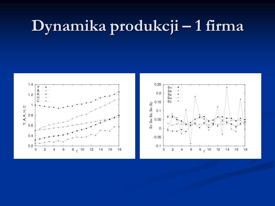 Dynamika produkcji – 1 firma